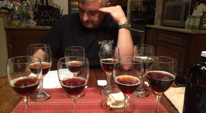 Neil reviewing tasting notes